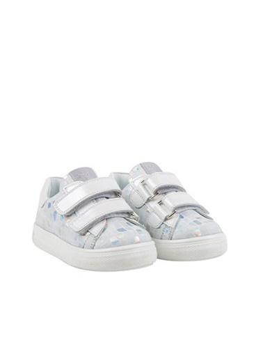 Kids A More Princess Çift Cırtlı Deri Kız Çocuk Ayakkabı  Beyaz